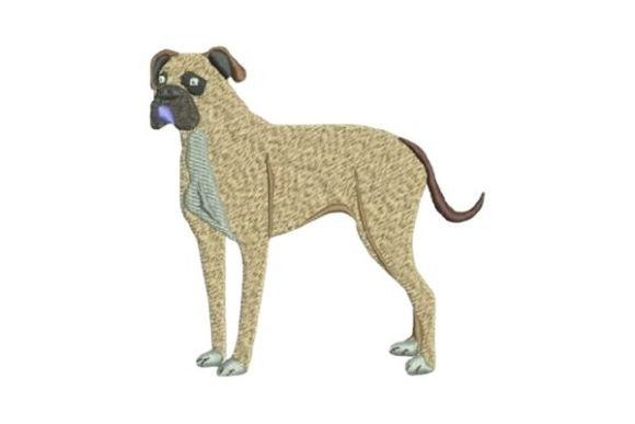 Boxer Dog Dogs Embroidery Design By Embroidery Designs