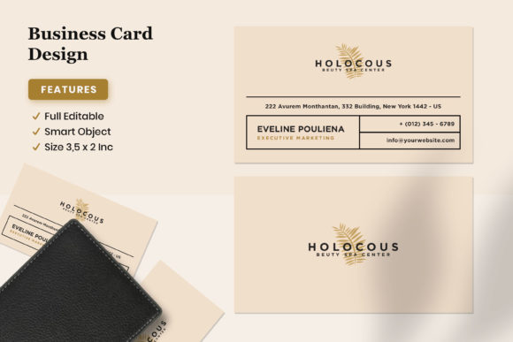 Business Card Design - Holocous Graphic Print Templates By fadilahridwan69