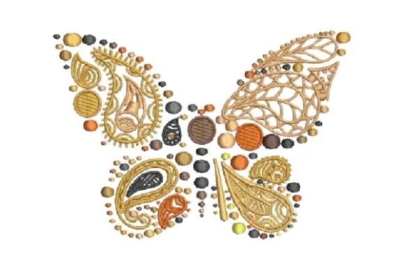 Butterfly Paisley Embroidery Design By Embroidery Designs - Image 1