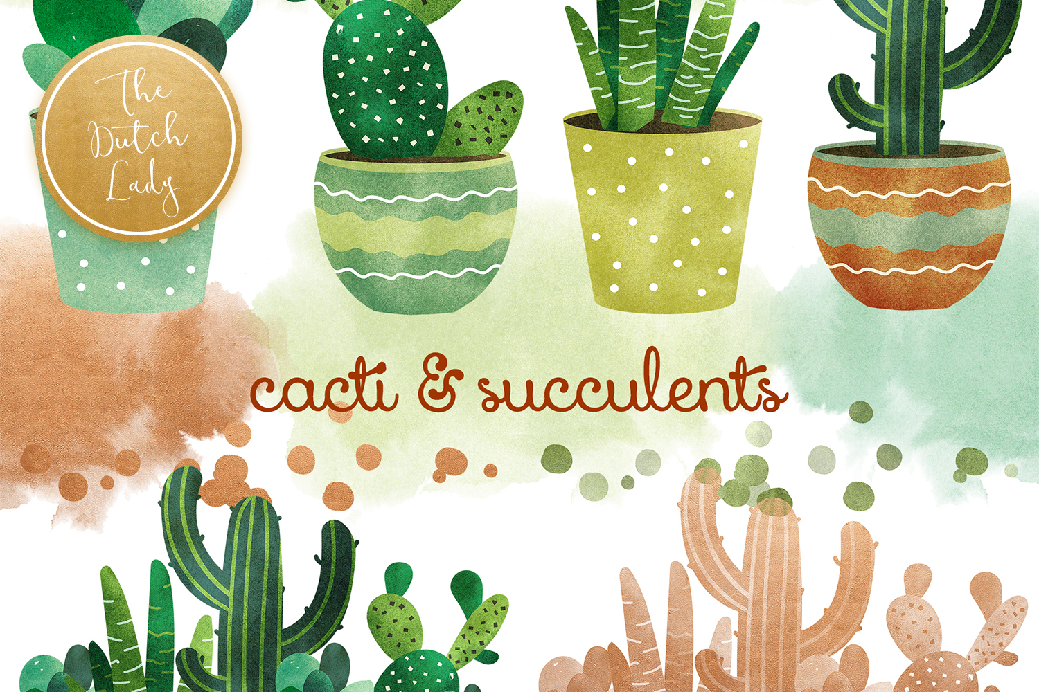 Download Free Cacti And Succulent Clipart Set Graphic By Daphnepopuliers Creative Fabrica for Cricut Explore, Silhouette and other cutting machines.