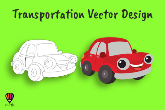 Download Free Car Vector Illustration Grafik Von Printablesplazza Creative for Cricut Explore, Silhouette and other cutting machines.