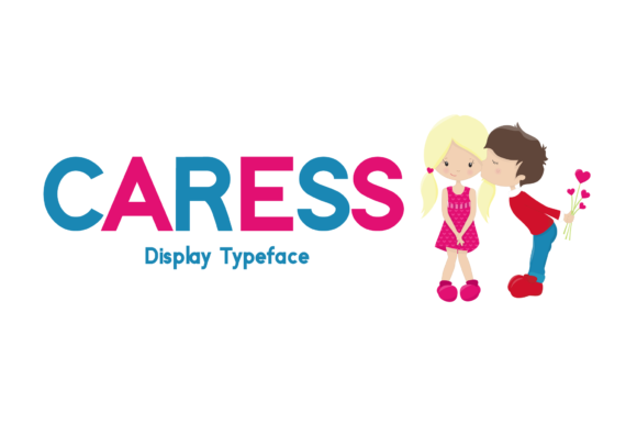 Print on Demand: Caress Display Font By FontEden