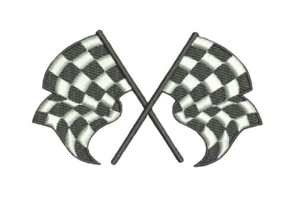 Checkered Flags Sports Embroidery Design By Embroidery Designs