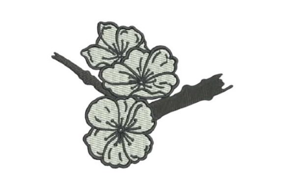Cherry Blossoms Tattoo Bouquets & Bunches Embroidery Design By Embroidery Designs - Image 1