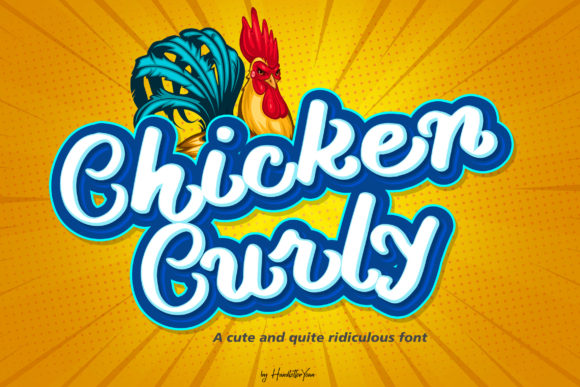 Print on Demand: Chicken Curly Display Font By yean.aguste