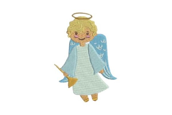 Christmas Angel Christmas Embroidery Design By Embroidery Designs - Image 1