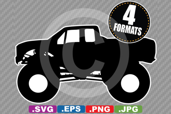 Download Free Classic Monster Truck Silhouette Graphic By Idrawsilhouettes for Cricut Explore, Silhouette and other cutting machines.