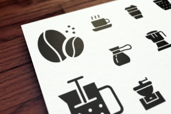Print on Demand: Coffee Graphic Icons By Masnung