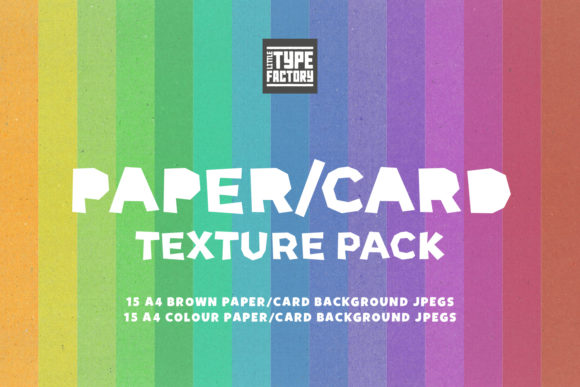Print on Demand: Craft Paper Card Texture Pack Graphic Textures By Little Type Factory