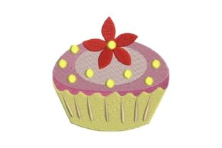Cupcake Dessert & Sweets Embroidery Design By Embroidery Designs