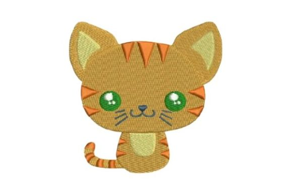 Cute Cat Animales bebés Diseños de bordado Por Embroidery Designs