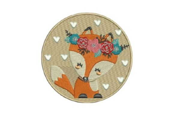 Cute Fox Embroidery