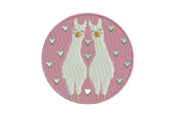 Cute Llamas Baby Animals Embroidery Design By Embroidery Designs - Image 1