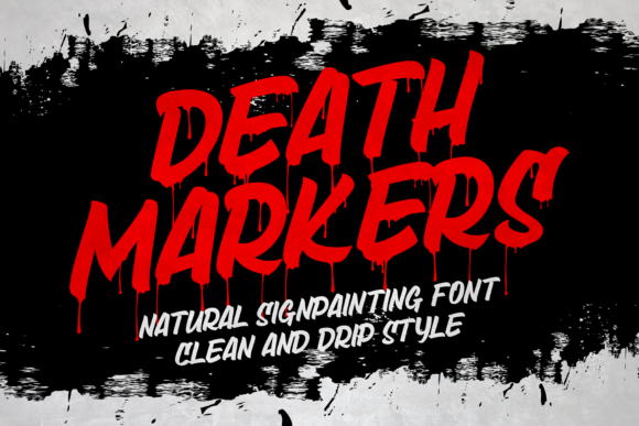Print on Demand: Death Markers Blackletter Font By figuree studio