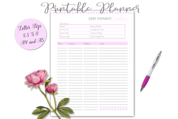 Print on Demand: Debt Payment Tracker Letter Size Graphic Print Templates By Shannon Casper