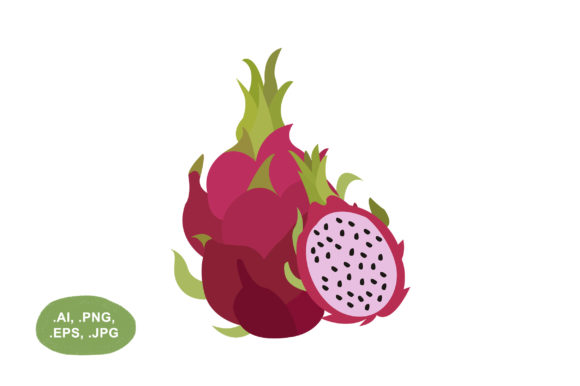 Download Free Dragon Fruit Vector Illustration Grafico Por Salfiart Creative Fabrica for Cricut Explore, Silhouette and other cutting machines.
