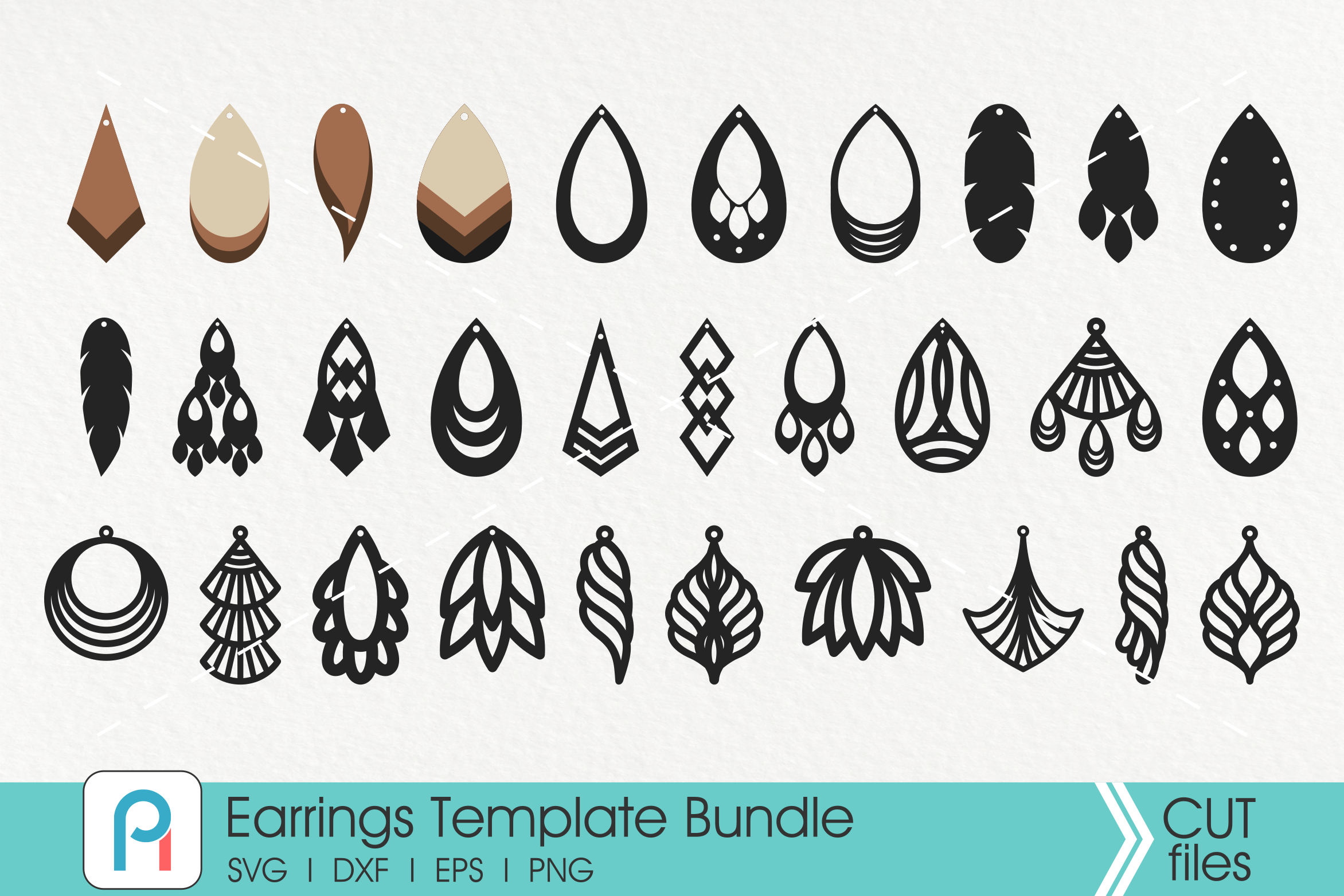 Download Free Earrings Graphic By Pinoyartkreatib Creative Fabrica for Cricut Explore, Silhouette and other cutting machines.