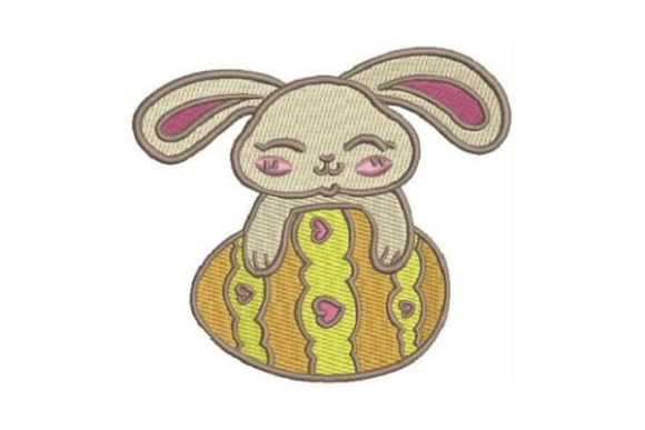 Easter Bunny Egg Easter Embroidery Design By Embroidery Designs - Image 1