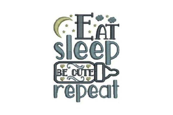Download Free Eat Sleep Be Cute Repeat Creative Fabrica for Cricut Explore, Silhouette and other cutting machines.