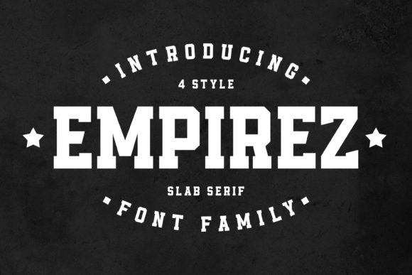 Print on Demand: Empirez Serif Font By almarkhatype