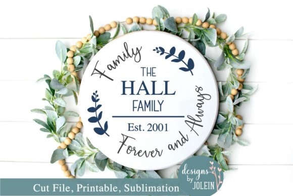 Family Forever And Always Name Design Graphic By Designs By
