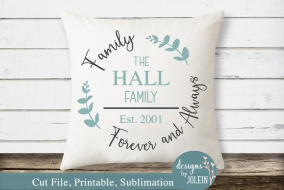 Download Free Family Forever And Always Name Design Graphic By Designs By for Cricut Explore, Silhouette and other cutting machines.