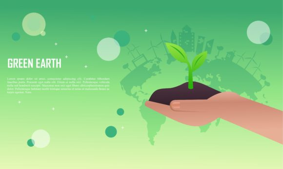 Download Free Flat Design Plants Ecology Green World Graphic By Deemka Studio for Cricut Explore, Silhouette and other cutting machines.