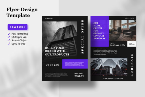 Flyer Design Template - Lurisain Graphic Graphic Templates By fadilahridwan69