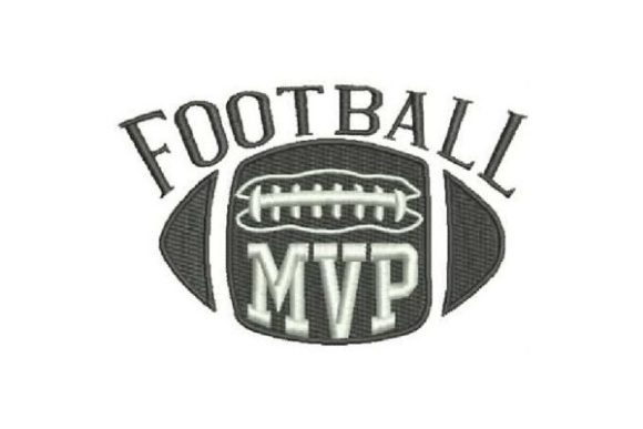 Football MVP Sports Embroidery Design By Embroidery Designs - Image 1