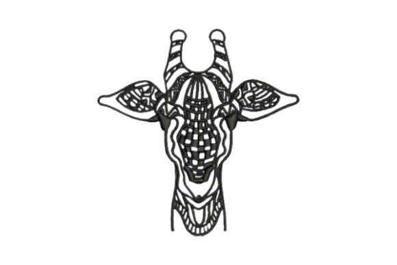 Giraffe Zentangle Zentangle Embroidery Design By Embroidery Designs - Image 1