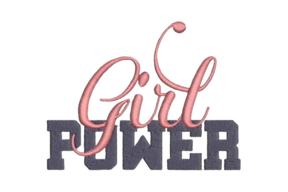Girl Power Boys & Girls Embroidery Design By Embroidery Designs