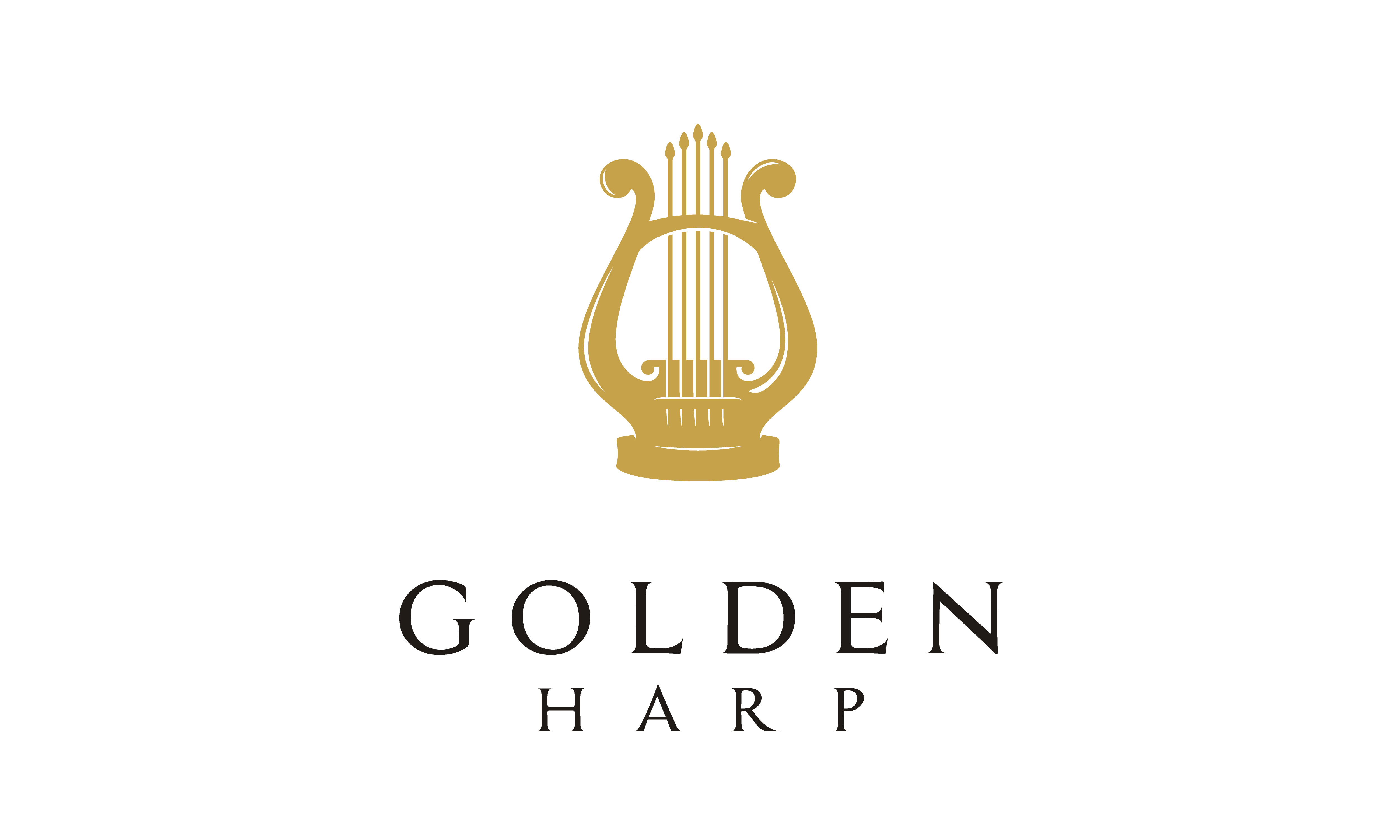 Download Free Golden Harp Gold Greek Lyre Music Logo Graphic By Enola99d SVG Cut Files
