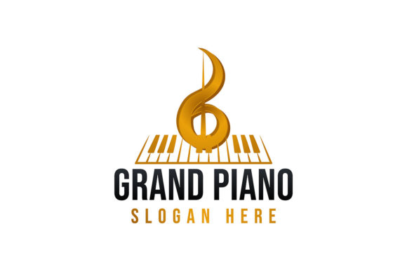 Download Free Grand Piano Logo Ideas Inspiration Logo Graphic By for Cricut Explore, Silhouette and other cutting machines.