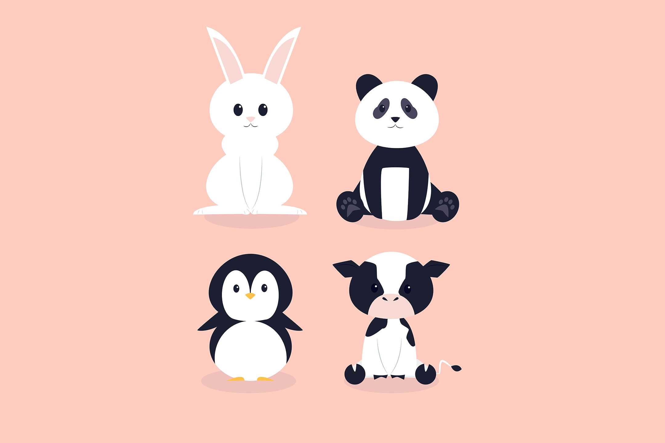 Download Free Hand Drawn Cute Animals Pack Graphic By Aprlmp276 Creative Fabrica for Cricut Explore, Silhouette and other cutting machines.