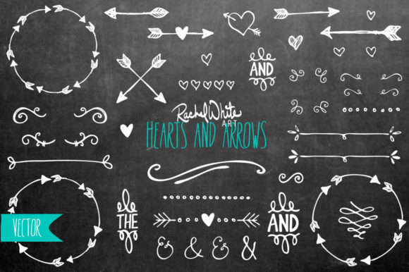 Hearts & Arrows Vector  Graphic Objects By rachelwhiteart - Image 2