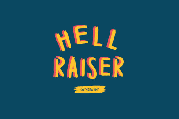 Print on Demand: Hell Raiser Blackletter Font By a.gwyneira - Image 1