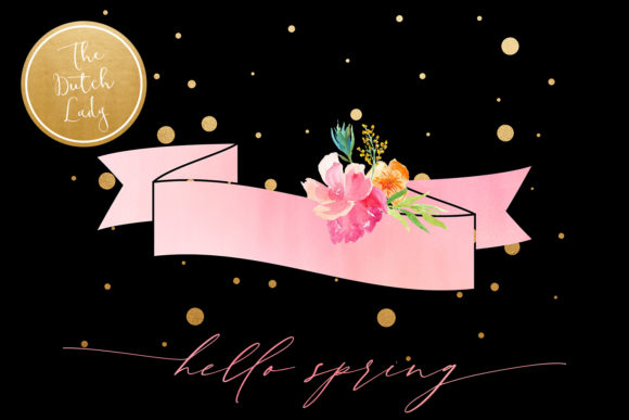Print on Demand: Hello Spring Clipart Set Graphic Illustrations By daphnepopuliers - Image 2