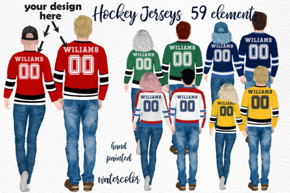Hockey Jerseys, Jersey Clipart Graphic Illustrations By LeCoqDesign