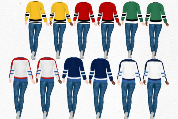 Hockey Jerseys, Jersey Clipart Graphic Illustrations By LeCoqDesign - Image 2