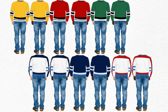 Hockey Jerseys, Jersey Clipart Graphic Illustrations By LeCoqDesign - Image 3