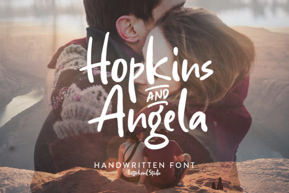 Print on Demand: Hopkins Angela Sans Serif Font By letterhend