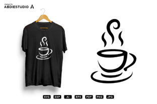 Print on Demand: Hot Coffee in Cup Graphic Crafts By Abdie