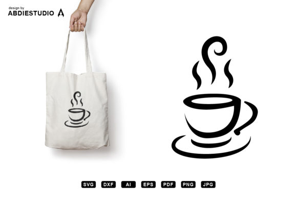 Download Free Hot Coffee In Cup Svg Graphic Graphic By Abdie Creative Fabrica for Cricut Explore, Silhouette and other cutting machines.