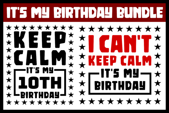 Print on Demand: It's My Birthday Bundle Graphic Product Mockups By colorsplash