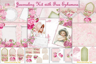 Download Free Journaling Kit Free Clipart Ephemera Graphic By The Paper for Cricut Explore, Silhouette and other cutting machines.