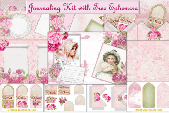 Print on Demand: Journaling Kit Free Clipart & Ephemera Graphic Crafts By The Paper Princess