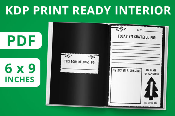 Print on Demand: KDP Upload Ready | Gratitude Journal 01 Graphic KDP Interiors By MikeToon Studio