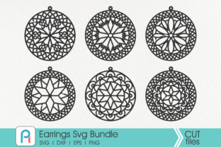 Download Free Leather Earrings Graphic By Pinoyartkreatib Creative Fabrica for Cricut Explore, Silhouette and other cutting machines.