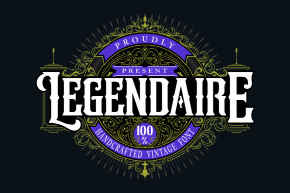 Print on Demand: Legendarie Blackletter Font By Vunira - Image 1