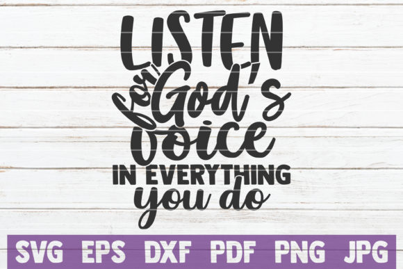 Listen for God's Voice Graphic Graphic Templates By MintyMarshmallows